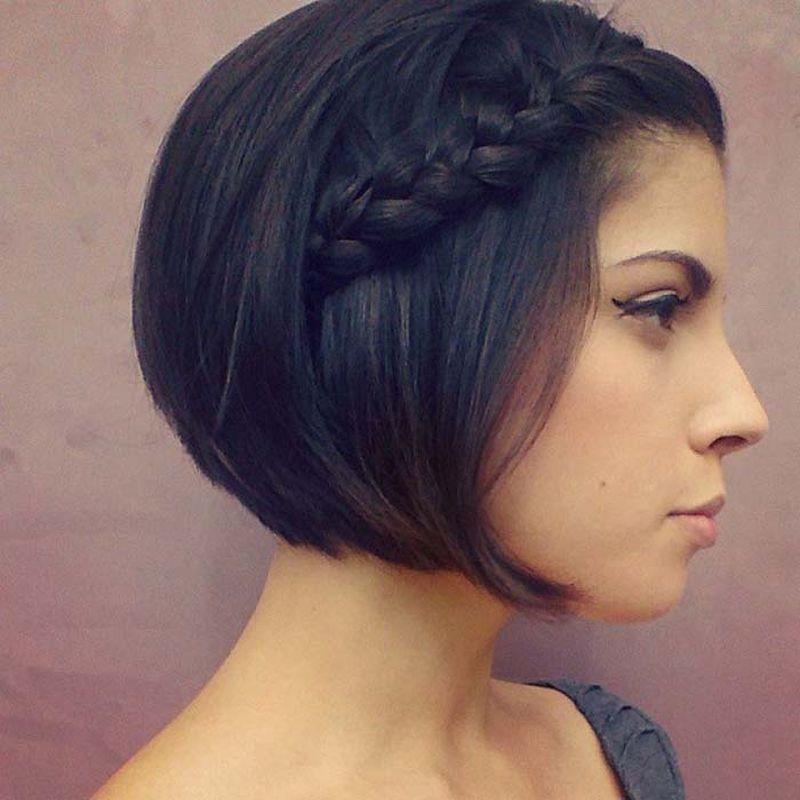 صورة افضل تسريحات الشعر القصير , صور احدث التسريحات للشعر القصير 2131 4