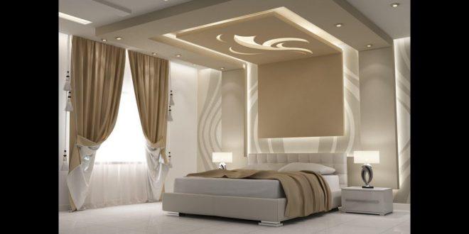 صورة جبس بورد لغرف النوم , اشكال جبس رومانسيه لغرفة نومك
