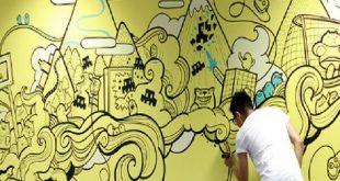 صور كيفية الرسم على الجدران , كيف تزين جدرانك بالرسومات