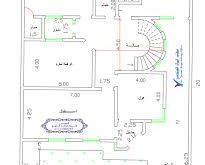 صورة خريطة منزل 300 متر مربع , تقسيم غرف منزل 300متر 1486 11 205x165