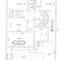 صورة خريطة منزل 300 متر مربع , تقسيم غرف منزل 300متر
