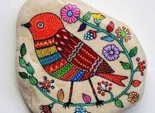 صور الرسم على الحجر , رسومات جميلة علي مواد من الطبيعة