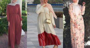 ملابس طويله للمحجبات , تالقي باروع لبس للحجاب