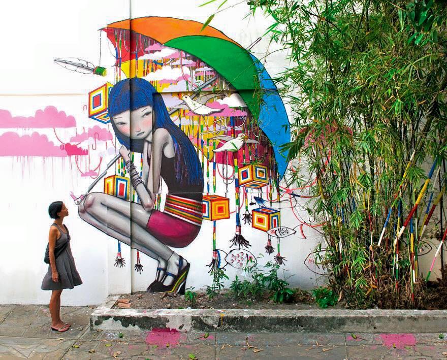 صور فن الرسم علي الجدران , رسومات عبقريه علي الجدران رووعه