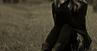 صورة صور للبنات حزينة , الحزن في الفستان الاسود