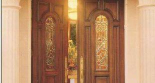 صورة ابواب خشب خارجية فخمة , باب خشب ذوقه عالي جدا