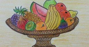 صورة سلة فواكه رسم , المكونات الرئيسية لسلة الفواكه