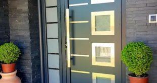 صورة ابواب المنيوم للمداخل , اختار ابواب ذات ديكور متميز