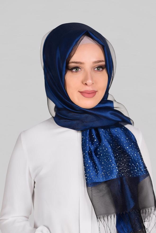 صورة لف الطرح الستان , اناقه حجابك بالستان ولفاته المميزه تكتمل