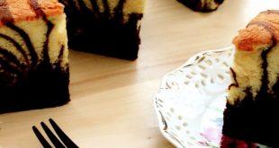 صورة طريقة عمل كيكة التايجر بالصور , ابسط طرق عمل كيكة النمر التايجر